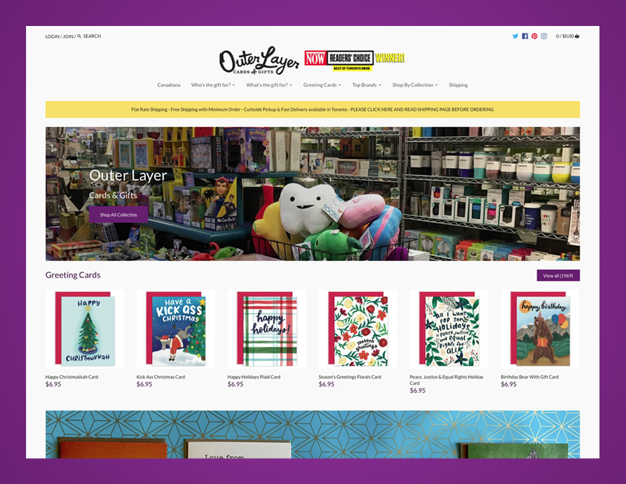 Outer Layer Home Page