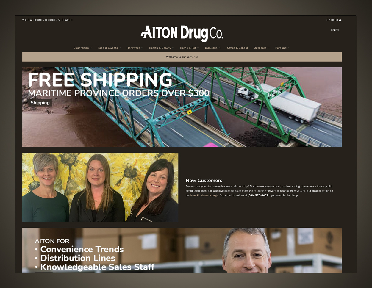 Aiton Drug Co home page.